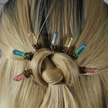 Load image into Gallery viewer, Elizabeth Crystal Quartz Hair Accessories