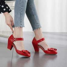 Load image into Gallery viewer, Mary Jane Bow Pumps