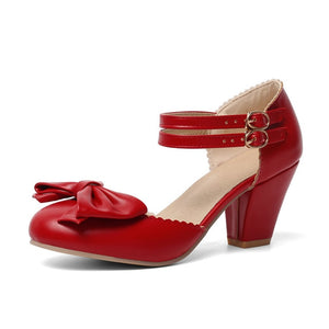 Mary Jane Bow Pumps