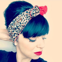 Load image into Gallery viewer, Leopard Vintage Headband