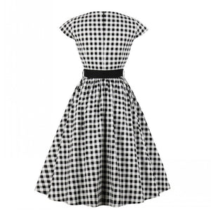 Roxy's Retro 50s 60s Plaid Dress