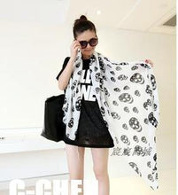 Load image into Gallery viewer, Silk Skull Scarf