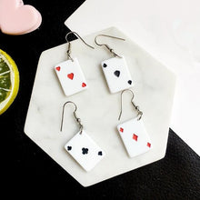 Load image into Gallery viewer, Poker Card Earrings