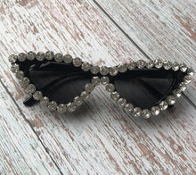Load image into Gallery viewer, Diamond and Pearls Cat Eye Sunglasses