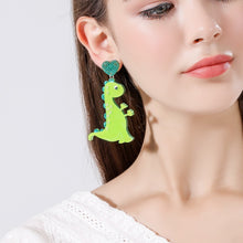 Load image into Gallery viewer, Acrylic Dangle Dinosaur Earrings