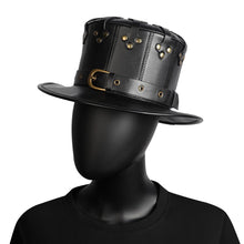 Load image into Gallery viewer, Flat Hat Metal Belt Steampunk Costume Props