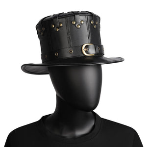 Flat Hat Metal Belt Steampunk Costume Props