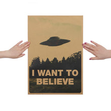 Load image into Gallery viewer, I Want To Believe UFO Retro Picture
