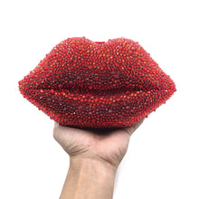 Load image into Gallery viewer, Red Lip Rhinestone Clutch Bag