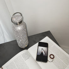 Load image into Gallery viewer, Roxy's Rhinestone Thermos Flask