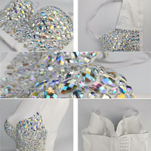 Load image into Gallery viewer, Fantasy Rhinestone Bustier Corset