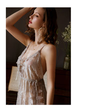 Load image into Gallery viewer, Lily's Grey Floral Nightgown