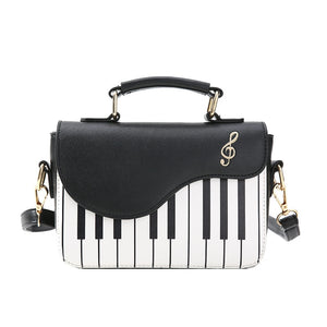 Retro Music Piano Handbag