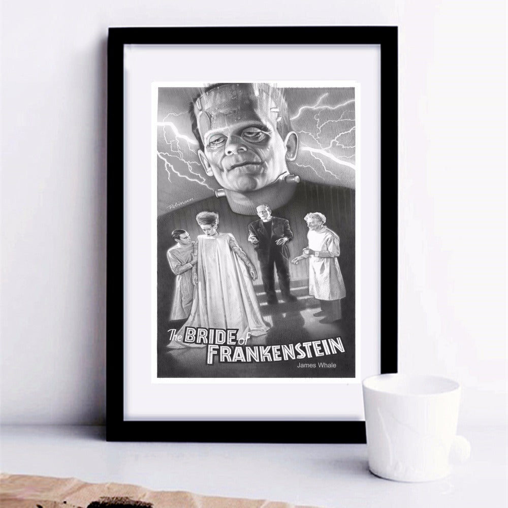 The Bride Of Frankenstein Vintage Poster