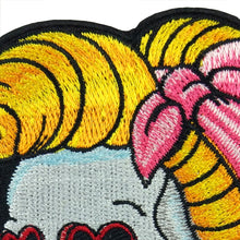 Load image into Gallery viewer, Love In My Eyes Sugar Skull Iron On Patch - Wildly Untamed