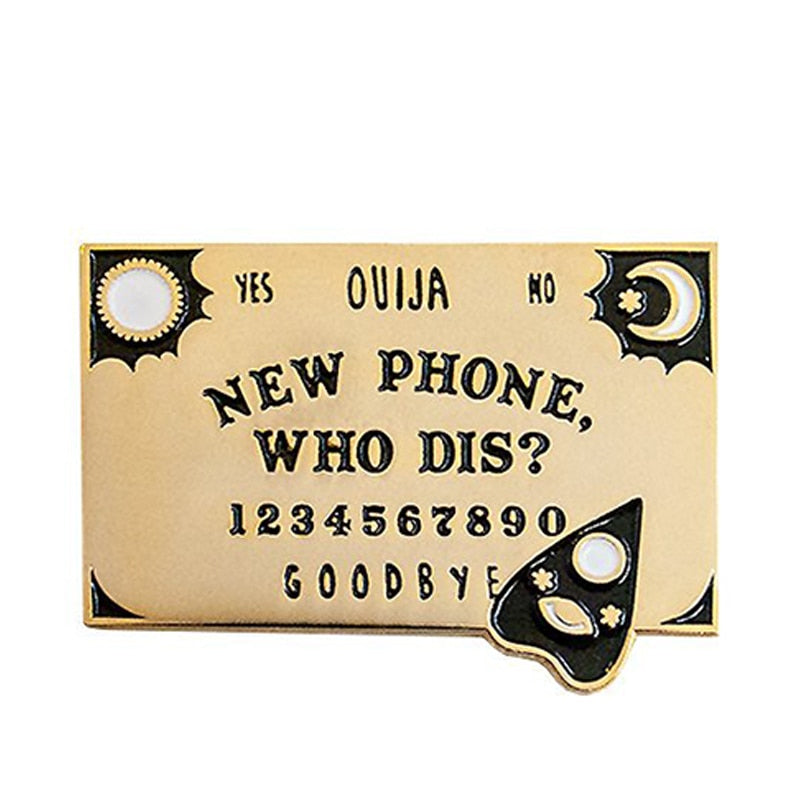 New Phone Ouija Board Enamel Pin - Wildly Untamed