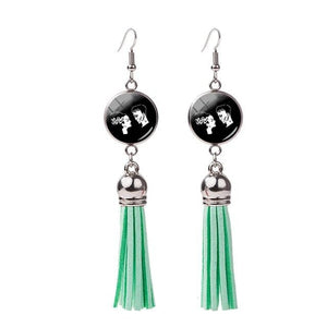 Frankenstein and His Bride Tassel Earring