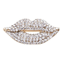 Load image into Gallery viewer, Marilyn Crystal Lip Brooch