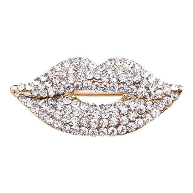 Marilyn Crystal Lip Brooch