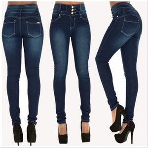 2019 Newest Hot High Quality Wholesale Woman Denim Pencil Pants Top Brand Stretch Jeans High Waist Pants Women High Waist Jeans - Wildly Untamed