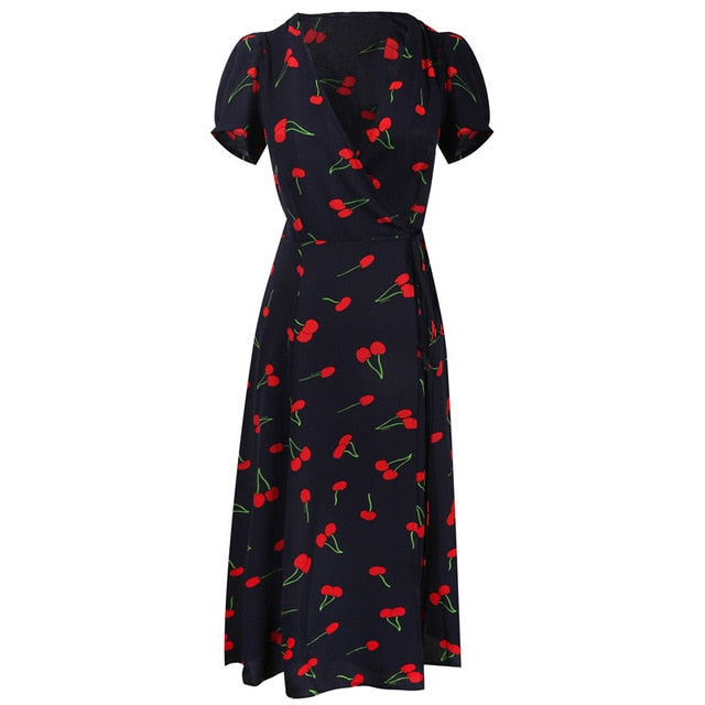 Cherry Doll Retro Dress - Wildly Untamed