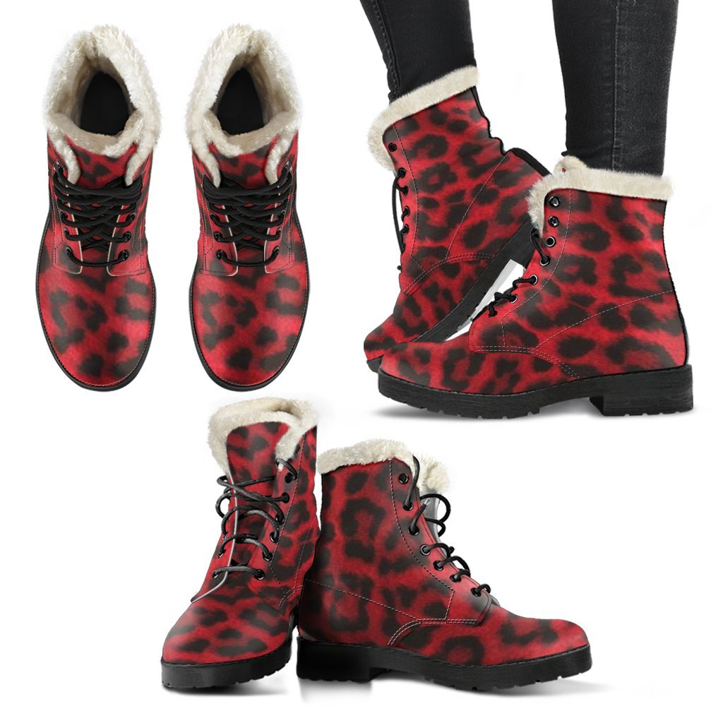 Red Leopard Boots - Wildly Untamed