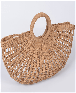 Straw Fan Inspired Clutch - Wildly Untamed