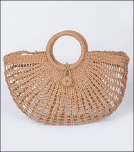 Load image into Gallery viewer, Straw Fan Inspired Clutch - Wildly Untamed