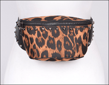 Load image into Gallery viewer, Studded Leopard Fanny Pack - Wildly Untamed