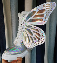 Load image into Gallery viewer, Butterflies Sneakers Lace Up