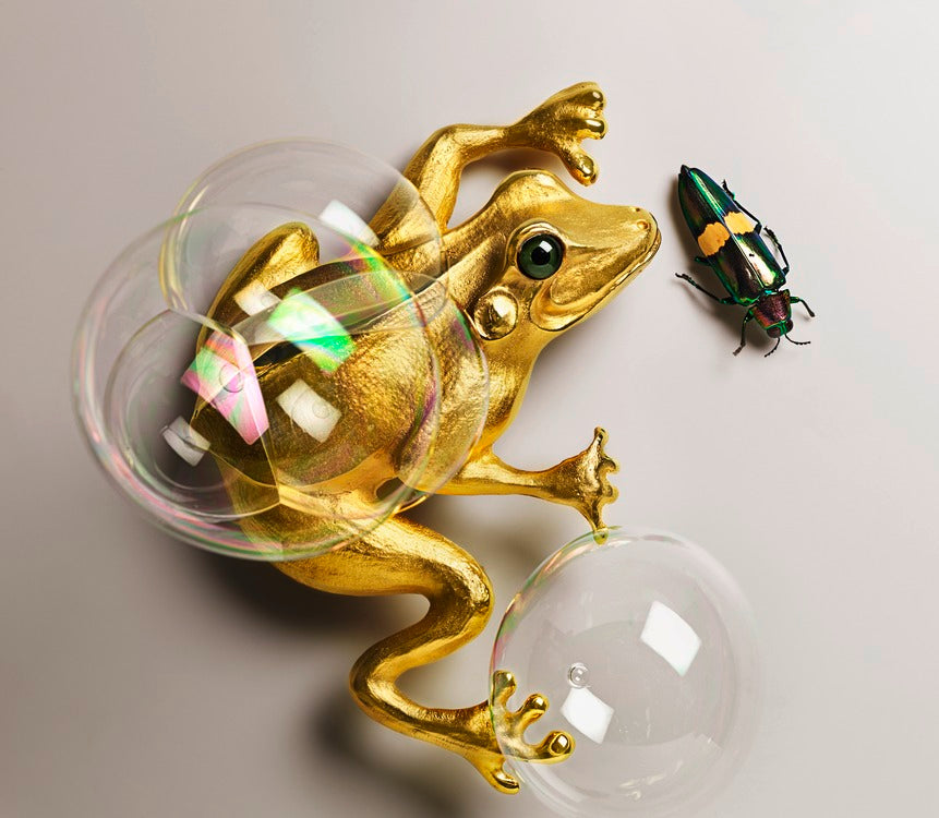 christopher ross le frog sculpture new york