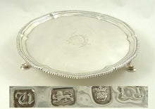 Load image into Gallery viewer, Antique Georgian Sterling Silver Salver Card Tray, London 1774 - 43 Chesapeake Court Antiques