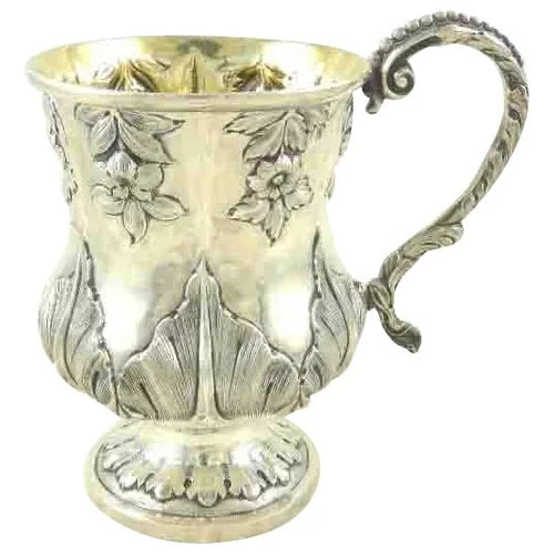 Antique English Sterling Silver Christening Mug William IV Period - 43 Chesapeake Court Antiques