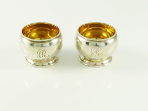 Antique Sterling Silver Salt Cellars a Pair,  Tiffany & Co - 43 Chesapeake Court Antiques