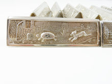 Load image into Gallery viewer, French Silver Plate Dinner Knife Rests Set of Twelve with Children's Tales Aesop's Fables - 43 Chesapeake Court Antiques