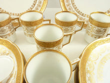 Load image into Gallery viewer, Antique Porcelain Dessert Plates & Demitasse Cups, C 1890 White with Gilt Trim - 43 Chesapeake Court Antiques