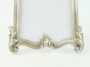 Christofle Silver Picture Photo Frame with Inset Mirror, Louis XV Style - 43 Chesapeake Court Antiques