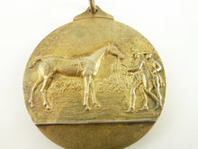 Load image into Gallery viewer, Antique Sterling Silver & Vermeil Medal Watch Fob, Marked For The Light Horse Breeding Society - 43 Chesapeake Court Antiques