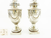 Load image into Gallery viewer, Antique Sterling Silver English Pepperettes, Castor or Shakers, A Pair - 43 Chesapeake Court Antiques