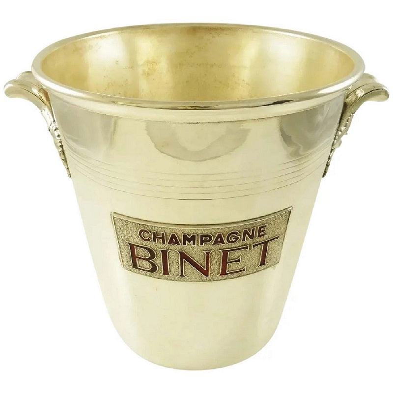 Mid-Century French Silver Plate Champagne Bucket Wine Cooler - 43 Chesapeake Court Antiques