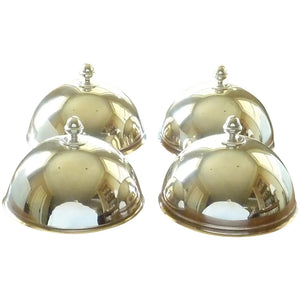 French Silver Plate Food Serving Domes or Cloche, Set of Four - 43 Chesapeake Court Antiques