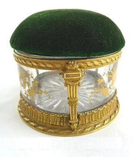 Load image into Gallery viewer, French Box Bronze Dore  Antique French Pin Cushion,  Hand Painted Gilt Details - 43 Chesapeake Court Antiques