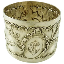 Load image into Gallery viewer, Antique French Sterling Silver Napkin Ring Floral Louis XVI Style - 43 Chesapeake Court Antiques