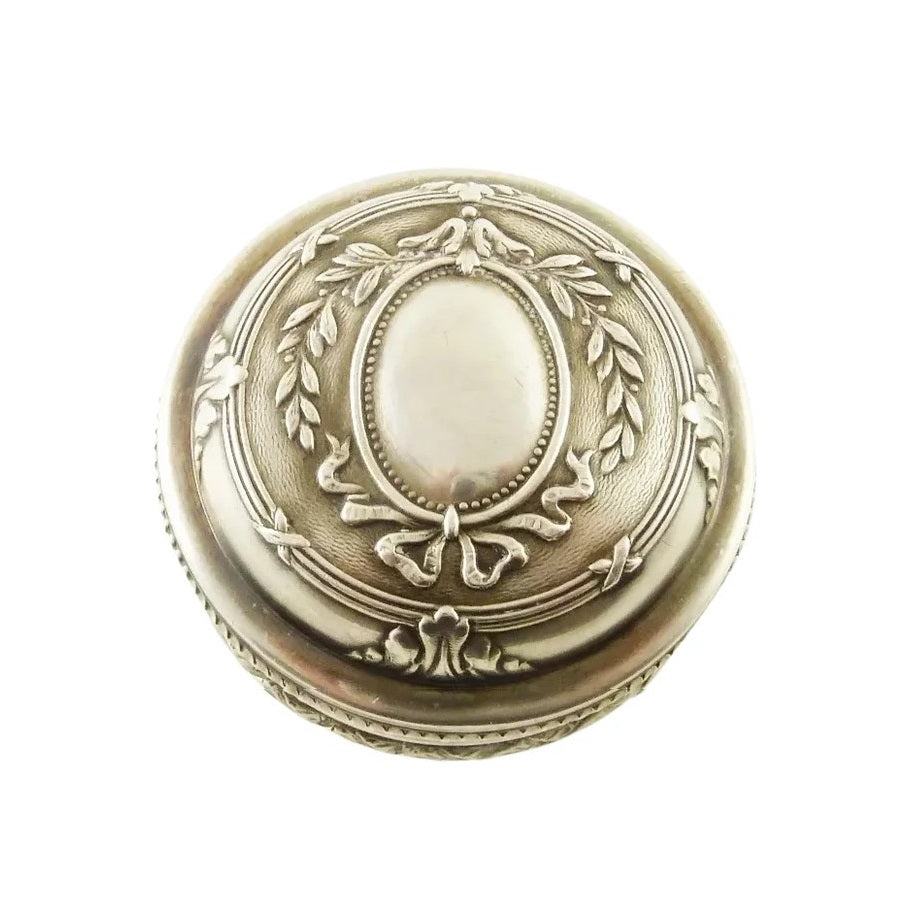 Antique French Sterling Silver and 18k Gold Vermeil Snuff or Patch Box - 43 Chesapeake Court Antiques