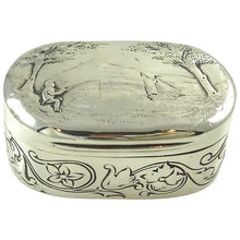 Load image into Gallery viewer, Georgian Sterling Silver & Gilt Snuff Box, London 1805 - 43 Chesapeake Court Antiques
