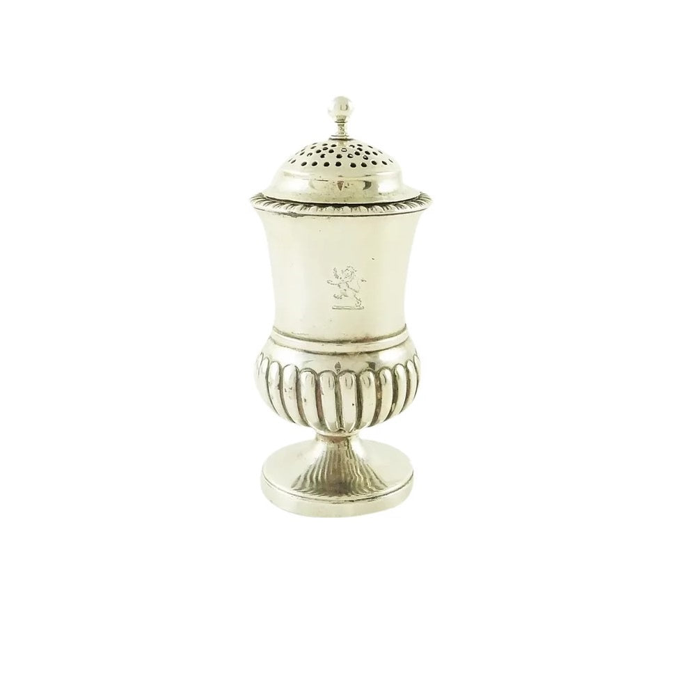 Georgian Sterling Silver Pepper Pot or Shaker, London 1829 - 43 Chesapeake Court Antiques