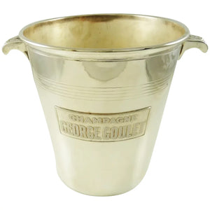 Mid-Century French Silver Plate Champagne Bucket Wine Cooler George Goulet - 43 Chesapeake Court Antiques