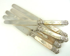 Antique French Silver & Mother of Pearl Cutlery, C 1820 - 43 Chesapeake Court Antiques