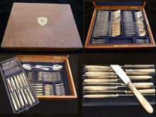 Load image into Gallery viewer, Antique French Sterling Silver & Mother of Pearl Flatware Set, 130 Pieces - 43 Chesapeake Court Antiques