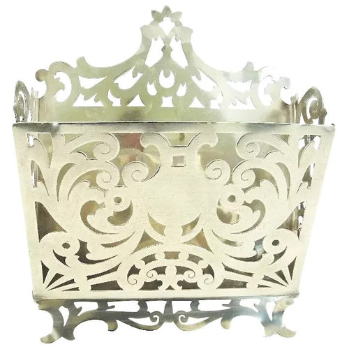 Antique Sterling Silver Letter Rack or Holder, Gorham C 1890 - 43 Chesapeake Court Antiques